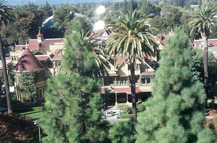 The Winchester Mansion in San Jose, California seen from above